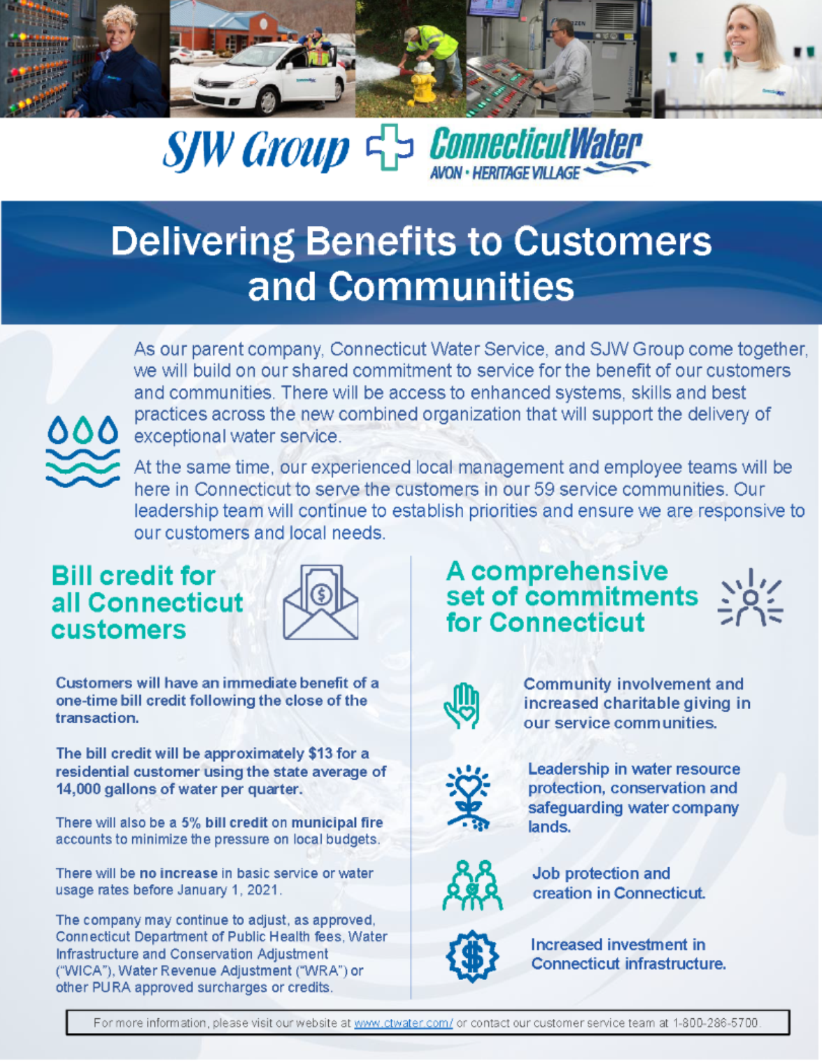 Delivering Benefits to Customers and Communities image